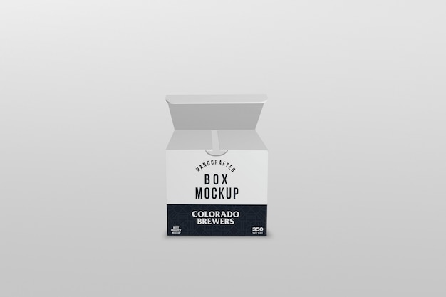 Квадратная упаковка коробки макет