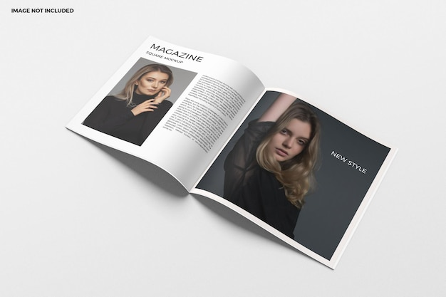 Квадратная брошюра и макет каталога