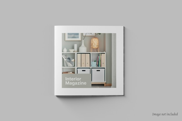 Square brochure and catalog cover mockup