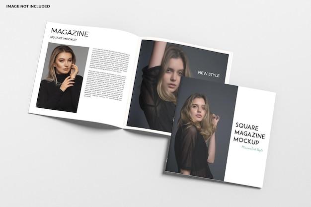 Square brochure and catalog mockup Premium Psd