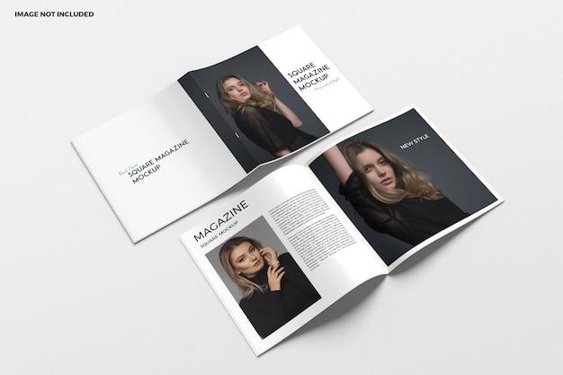 Square brochure and catalog mockup