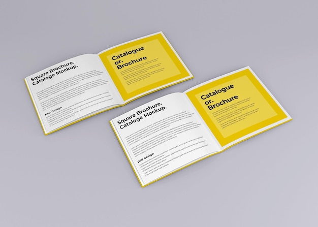 Square brochure journal mockup