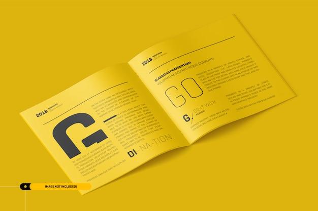 Макет квадратной брошюры