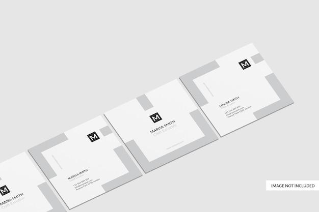 정사각형 명함 목업 디자인