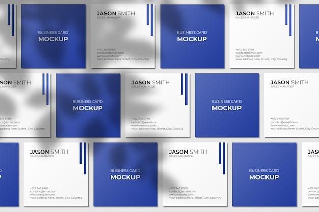 Квадратный макет визитки с тенью листа