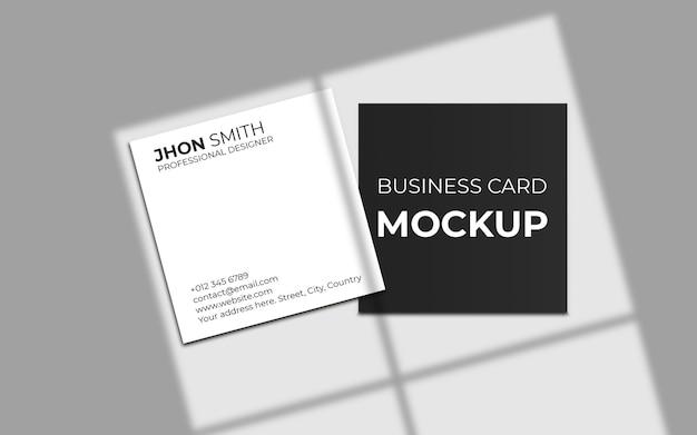 Квадратный макет визитки с тенью Premium Psd