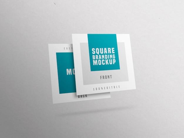 Mockup di biglietto da visita quadrato