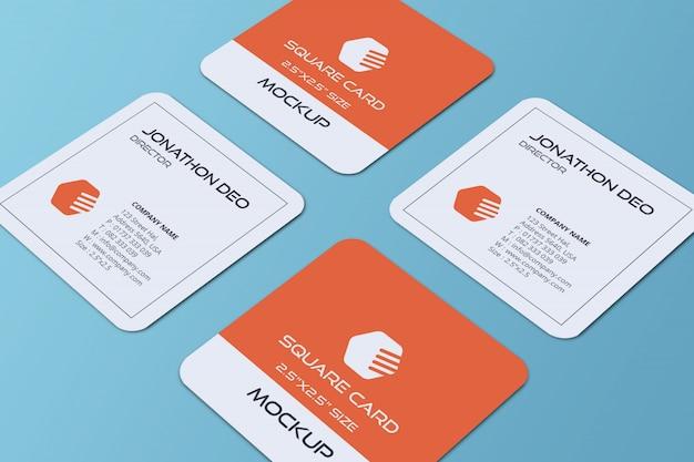 Квадратный макет визитки