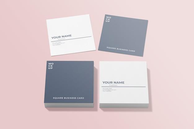 Макет квадратной визитки