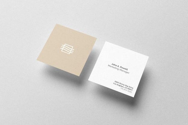 Mockup di carte quadrate