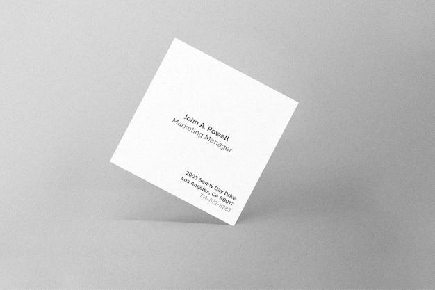 Square card mockup