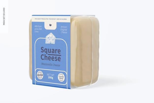Square cheese mockup