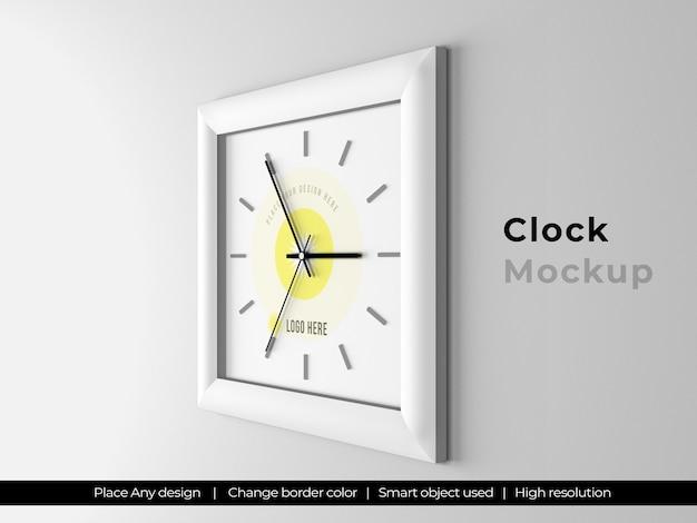 Макет квадратных часов