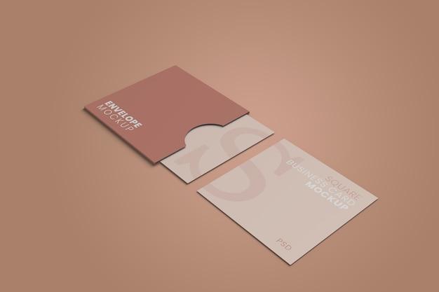Макет визитной карточки квадратный конверт