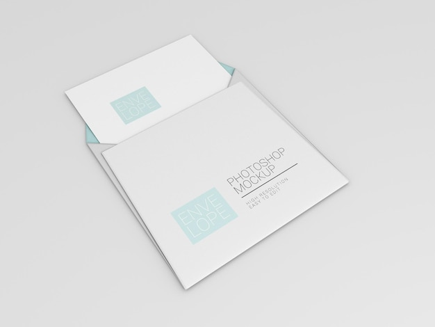 Макет квадратного конверта