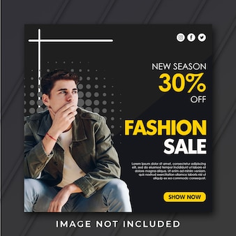 Квадратный шаблон продажи моды
