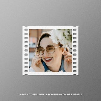 Square film paper frame mockup design