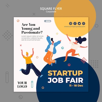Square fllyer hiring announcement template