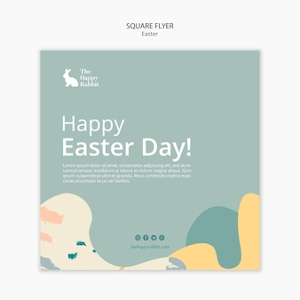 Square flyer for easter day event