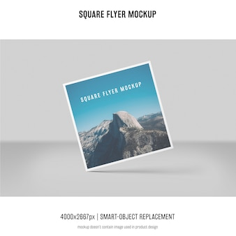 Square flyer, greeting card, invitation mockup