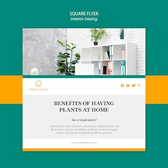 Volantino quadrato per l'interior design