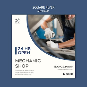 Square flyer mechanic template