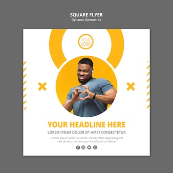 Square flyer minimalist business template