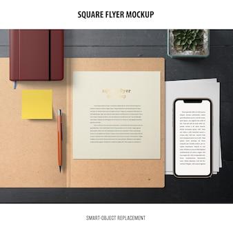 Square flyer mockup