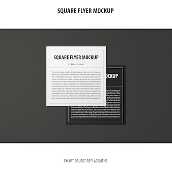 Flyer quadrato mockup