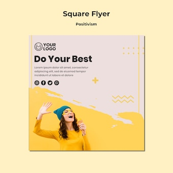 Square flyer positivism template