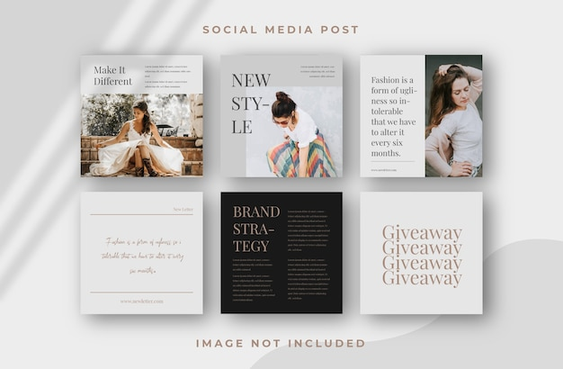 Square flyer social media feed post template