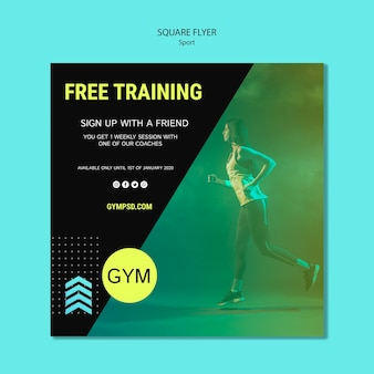 Square flyer sport business template