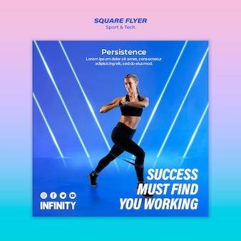 Volantino quadrato per sport ed esercizio fisico