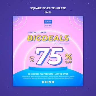 Square flyer for super sale