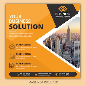 Square flyer template design