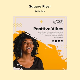 Square flyer template positivism