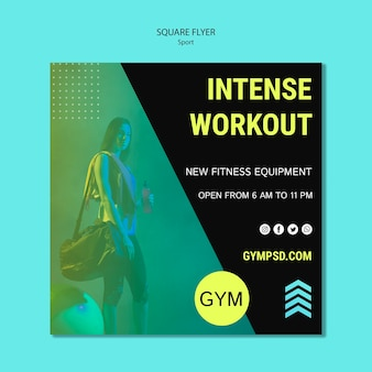 Square flyer template sport business