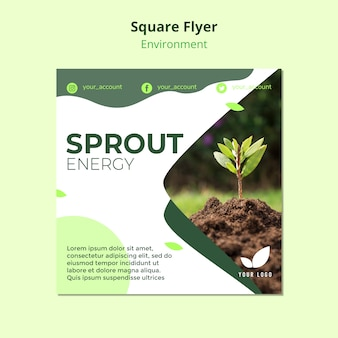 Square flyer template of sprout energy