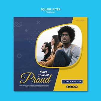 Square flyer template for staying positive
