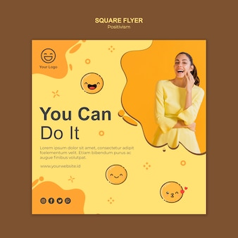 Square flyer template with you can do it
