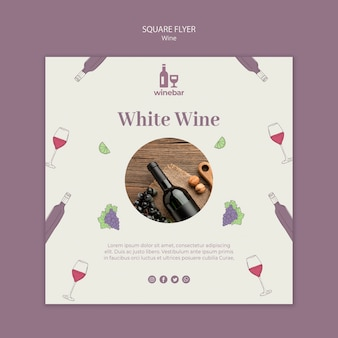 Square flyer for wine tasting