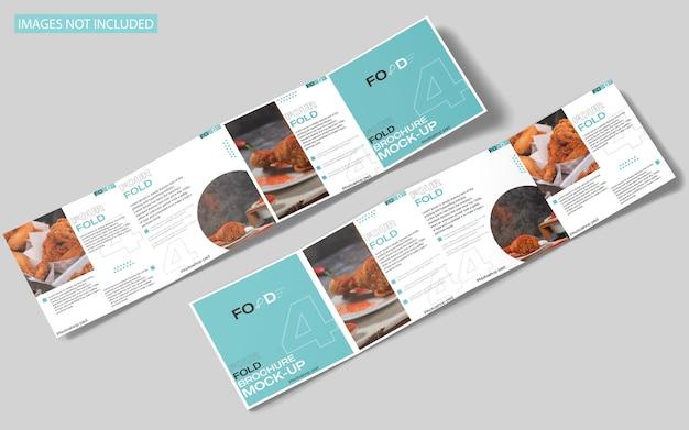 Квадратный четырехслойный макет брошюры