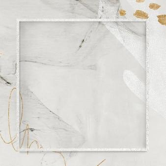 Квадратная рамка на макете социального фона в нео мемфисе