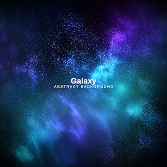 Square galaxy abstract background