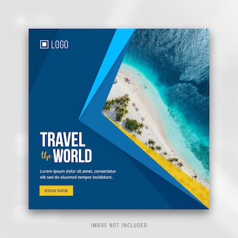 Square instagram post travel banner