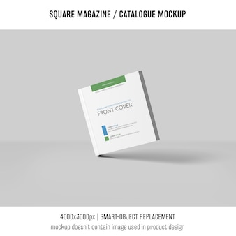 Square magazine or catalogue mockup with shadows