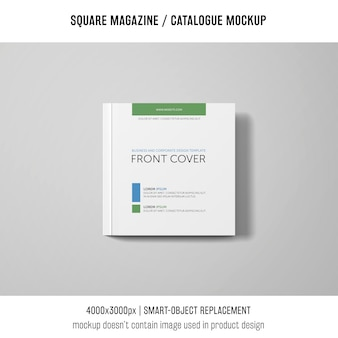 Square magazine or catalogue mockup