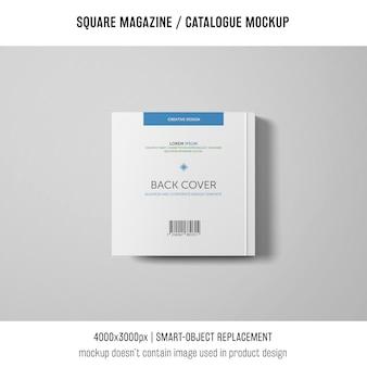 Square magazine or catalogue mockup