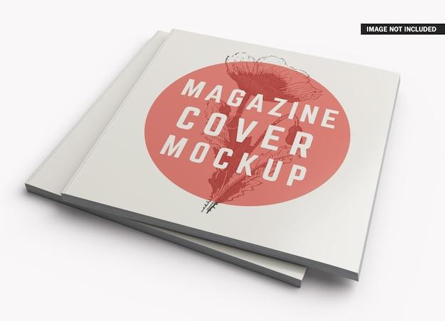 정사각형 잡지 표지 모형 디자인
