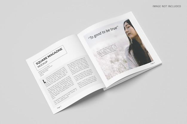 정사각형 잡지 모형 디자인
